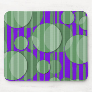 Bubbles and stripes mouse pad