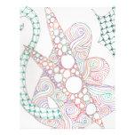 bubbles and swirls letterhead design