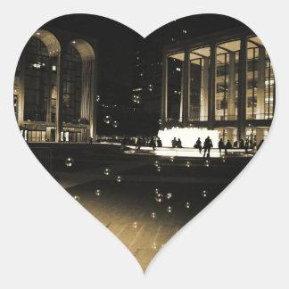 Bubbles at Lincoln Center Heart Sticker