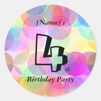 Bubbles - Birthday Party Round Sticker
