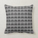 Bubbles Black & Grey Pillow