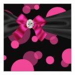 Bubbles Black Tie Party Pink Black Party Invitatio Invite