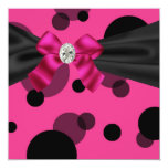 Bubbles Black Tie Party Pink Black Party Personalized Invitations