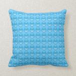 Bubbles Blues Bubblewrap Pillow