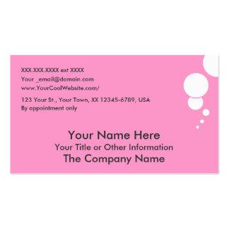 BUBBLES - bubblegum - business card template