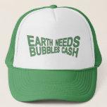 BUBBLES CA$H Trucker Hat $ Green