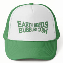 BUBBLES CA$H Trucker Hat $ Green