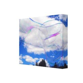 Bubbles wrappedcanvas