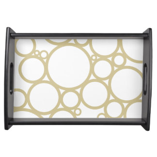 Bubbles | Champagne Pattern Design Serving Tray