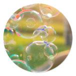 Bubbles Classic Round Sticker