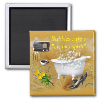 Bubbles- customize 2 inch square magnet