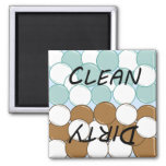 Bubbles Dishwasher Status 2 Inch Square Magnet