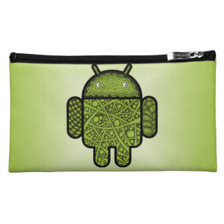 Bubbles Doodle Character for the Android™ robot Cosmetics Bags