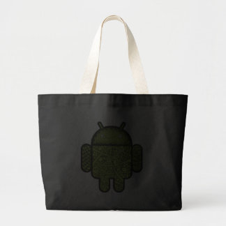Bubbles Doodle Character for the Android™ robot Canvas Bags