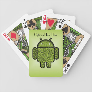 Bubbles Doodle Character for the Android™ robot Bicycle Playing Cards