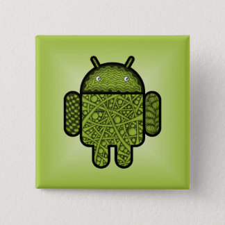 Bubbles Doodle Character for the Android™ robot Button