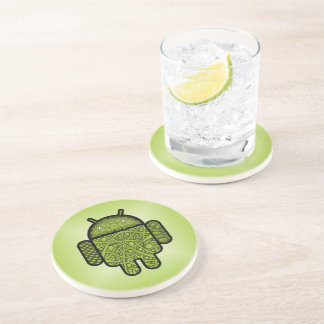 Bubbles Doodle Character for the Android™ robot Beverage Coasters