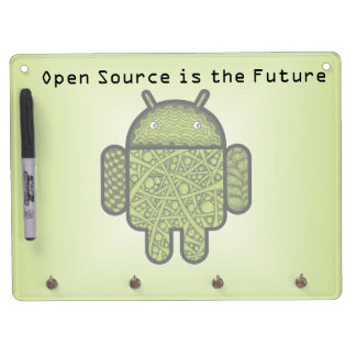 Bubbles Doodle Character for the Android™ robot Dry Erase Board With Keychain Holder