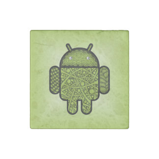Bubbles Doodle Character for the Android™ robot Stone Magnet