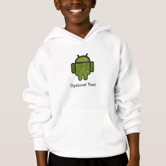 Bubbles Doodle Character for the Android™ robot Hoodie