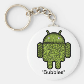 Bubbles Doodle Character for the Android™ robot Keychain