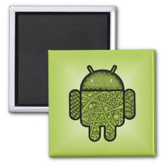 Bubbles Doodle Character for the Android™ robot Fridge Magnet