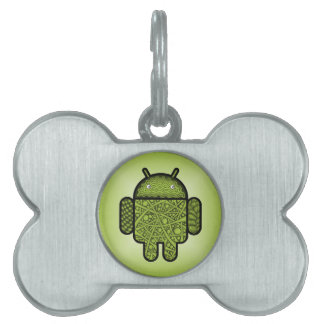 Bubbles Doodle Character for the Android™ robot Pet Tag