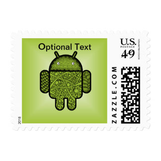 Bubbles Doodle Character for the Android™ robot Postage Stamp