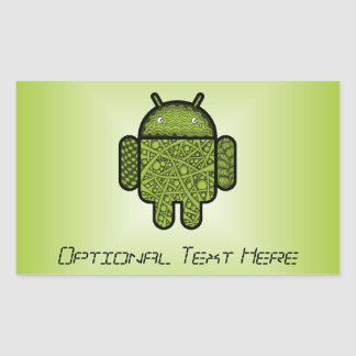 Bubbles Doodle Character for the Android™ robot Rectangular Sticker