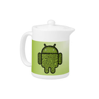 Bubbles Doodle Character for the Android™ robot Teapot