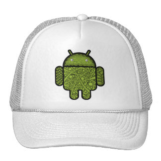 Bubbles Doodle Character for the Android™ robot Trucker Hat