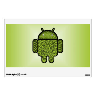 Bubbles Doodle Character for the Android™ robot Wall Decal
