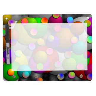 Bubbles Dry Erase Board With Keychain Holder