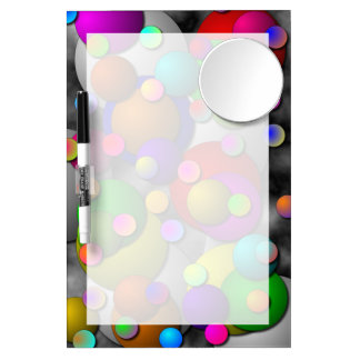 Bubbles Dry Erase Board With Mirror