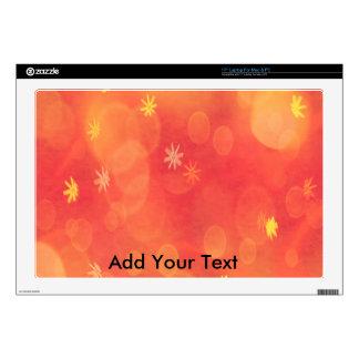 "Bubbles & Flowers in Orange 17"" Laptop Decal"