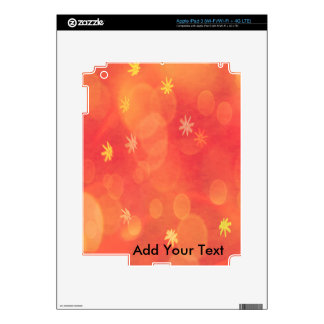 Bubbles & Flowers in Orange Decal For iPad 3
