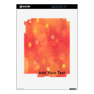 Bubbles & Flowers in Orange Skin For The iPad 2