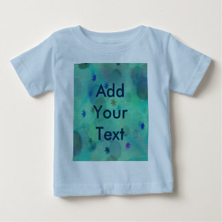 Bubbles & Flowers in Teal Baby T-Shirt