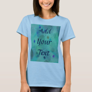 Bubbles & Flowers in Teal T-Shirt