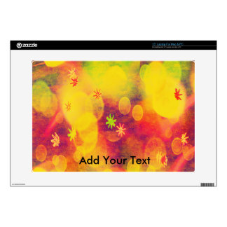 """Bubbles & Flowers in Yellow Decals For 15"""" Laptops"""