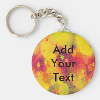 Bubbles & Flowers in Yellow Keychain