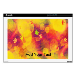 """Bubbles & Flowers in Yellow Skin For 17"""" Laptop"""