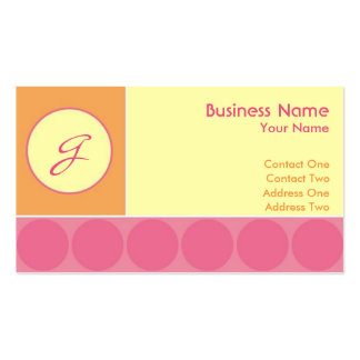 Bubbles Girl Business Cards
