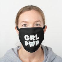 Bubbles: Girl Power Black Cotton Face Mask