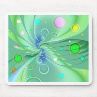 Bubbles green by Tutti Mouse Pad