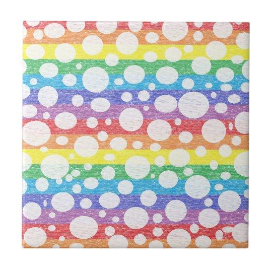 Bubbles in a Rainbow Sea Ceramic Tile