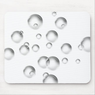 Bubbles in Black and White Mouse Pad