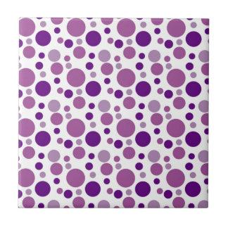 Bubbles in Deep Purple Small Square Tile