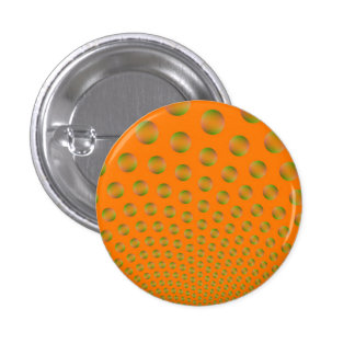 Bubbles in Orange and Green Pinback Button