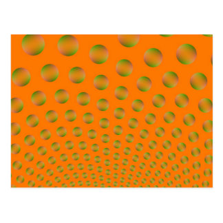 Bubbles in Orange and Green Post Card